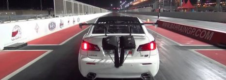 Lexus Disaster On Drag Strip